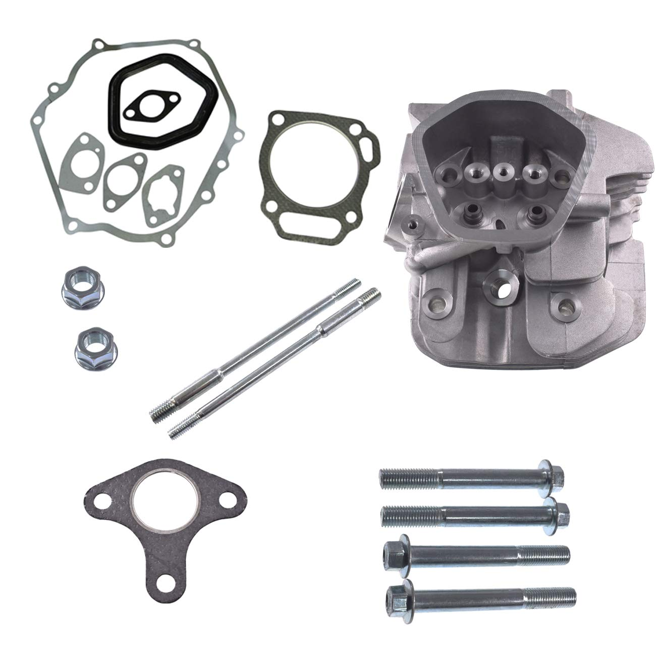 JRL Cylinder Head with Gaket Bolt Carb Bolt Nut Fits Honda GX390 Engine