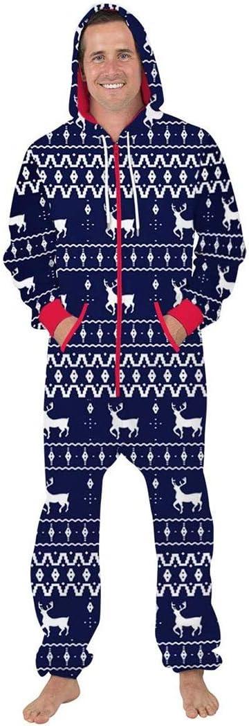 HQ-PJS Pijamas de una Pieza Unisex 3D Feo Navidad OneSize ...