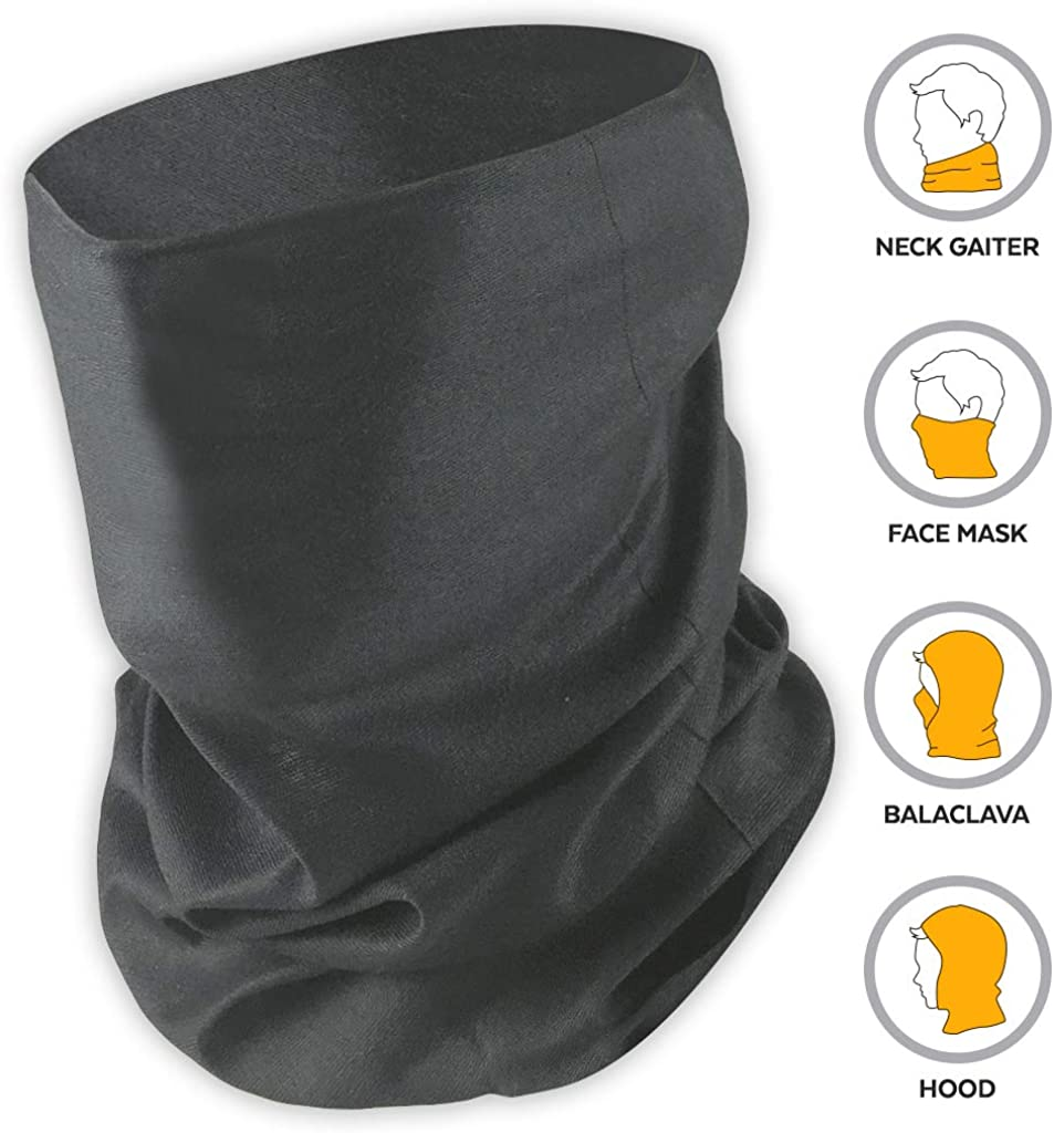 Face Mask Bandana & Neck Gaiter - Reusable, Washable & Breathable Cloth Shield, Cover & Scarf for UV, Sun & Dust Protection