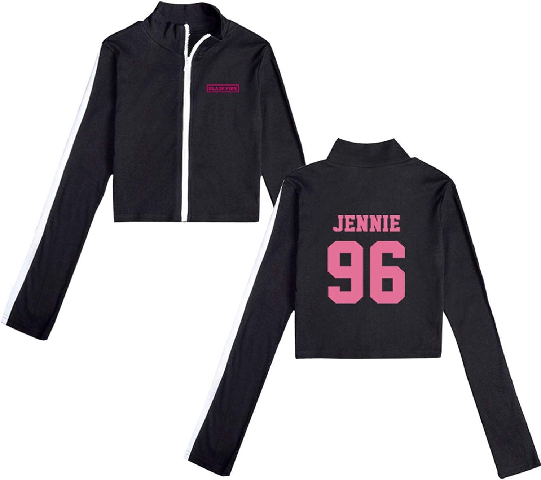 Qaedtls Kpop Blackpink Baseball Jacket Rose Jisoo Jennie Lisa Hoodie Coat