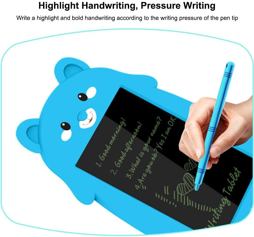 HEYJUDY LCD Writing Tablet 8.5 inch Portable Reusable Erasable Cute Electronic Drawing Tablet Doodle Board for Kids School Office Fridge