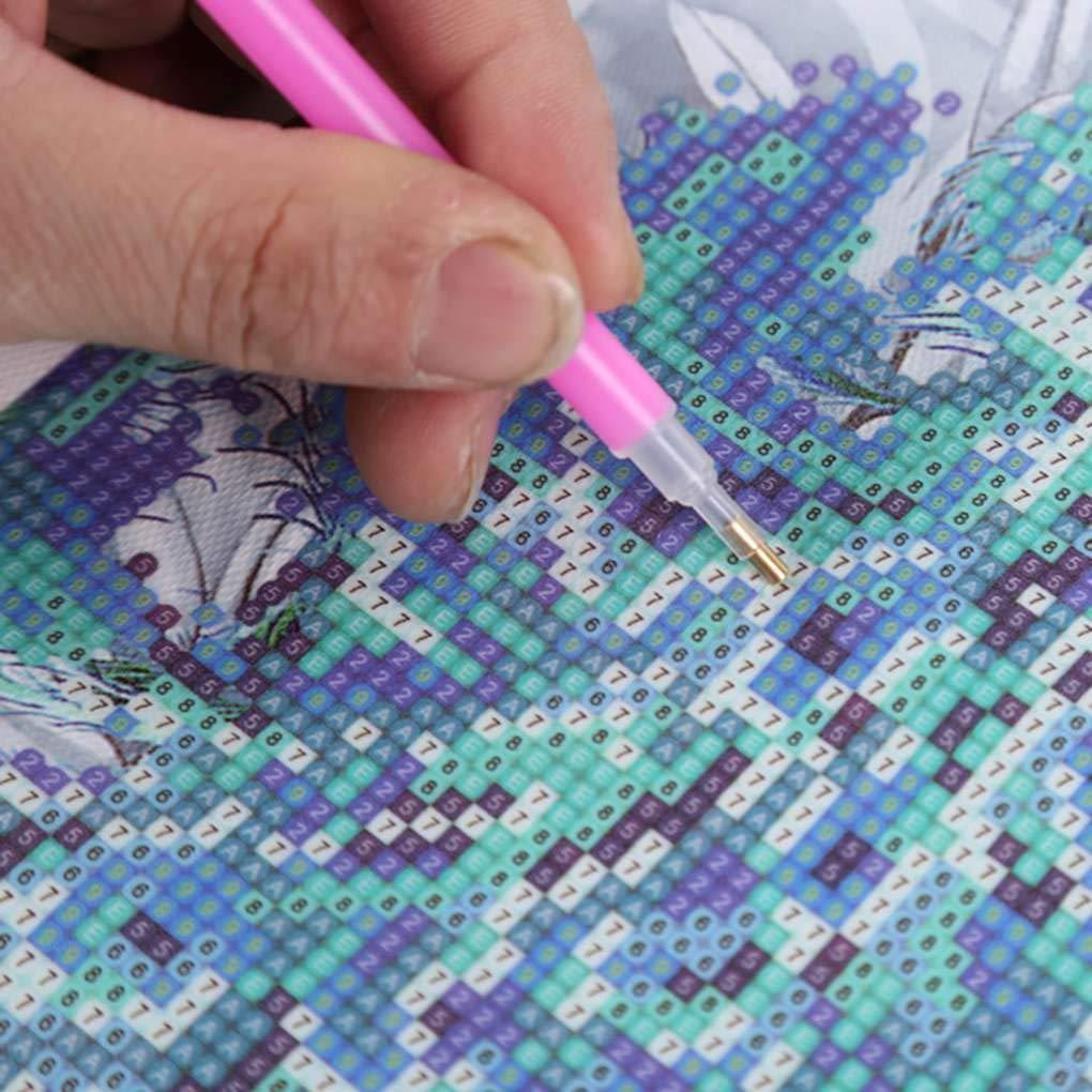 Fornateu 21pcs Outils de Bricolage Diamant Broderie Peinture Strass Point de Croix Drill Set Colle Brucelles Bo/îte de Rangement Kit Pen