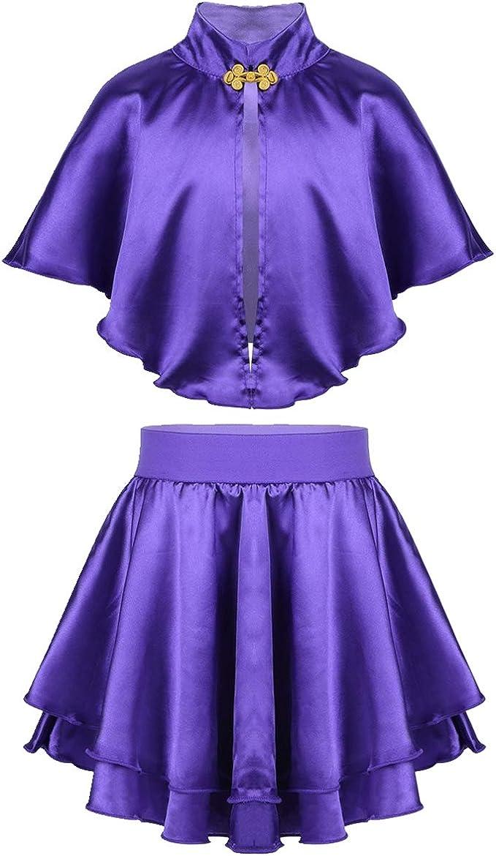 IEFIEL Disfraz de Princesa Niña Chica Vestido Morado Vintage Top ...