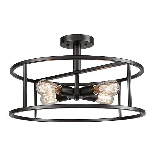 Amazon.com: EUL - Lámpara de techo semiempotrable para ...