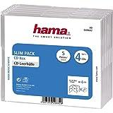 Hama 5 Boîtiers 'Slim' vides Transparents Pour 4 CD 00049682