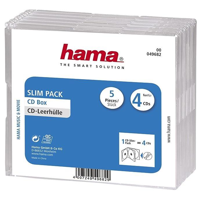 Hama - Caja para 4 CDs (pack de 5 cajas): Amazon.es: Electrónica