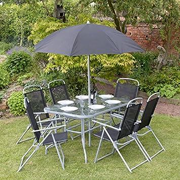 995c320deaaaac Garden Mile® - Lot de 8 articles de mobilier de jardin extérieur - Ensemble  de