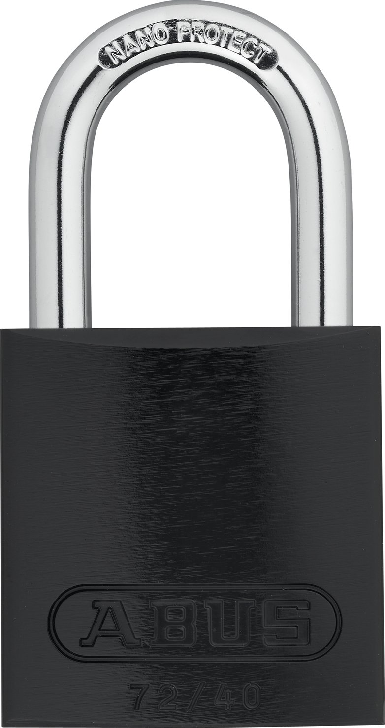 ABUS 72/40 KA Safety Lockout Aluminum Keyed Alike Padlock with 1-Inch shackle, Black by ABUS (Image #1)