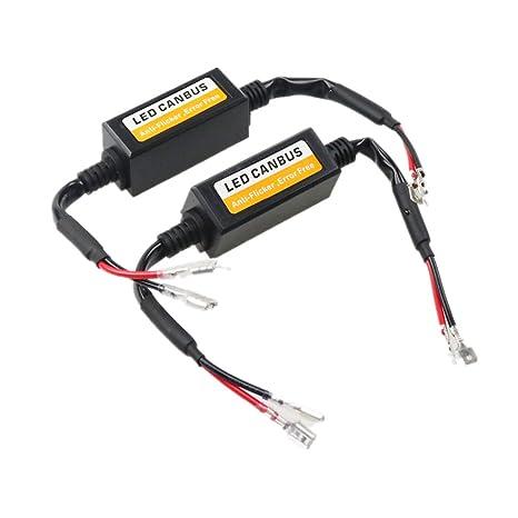 Fezz LED Coche Bombilla Faro Decodificador H1 Canbus Resistencia Adaptador Cableado Advertencia Cancelador Errores