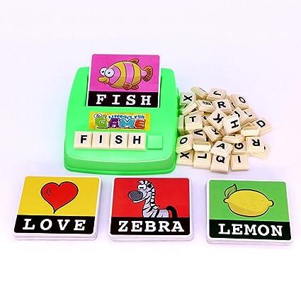 amazon com mengting alphabet letter word spelling game spell words