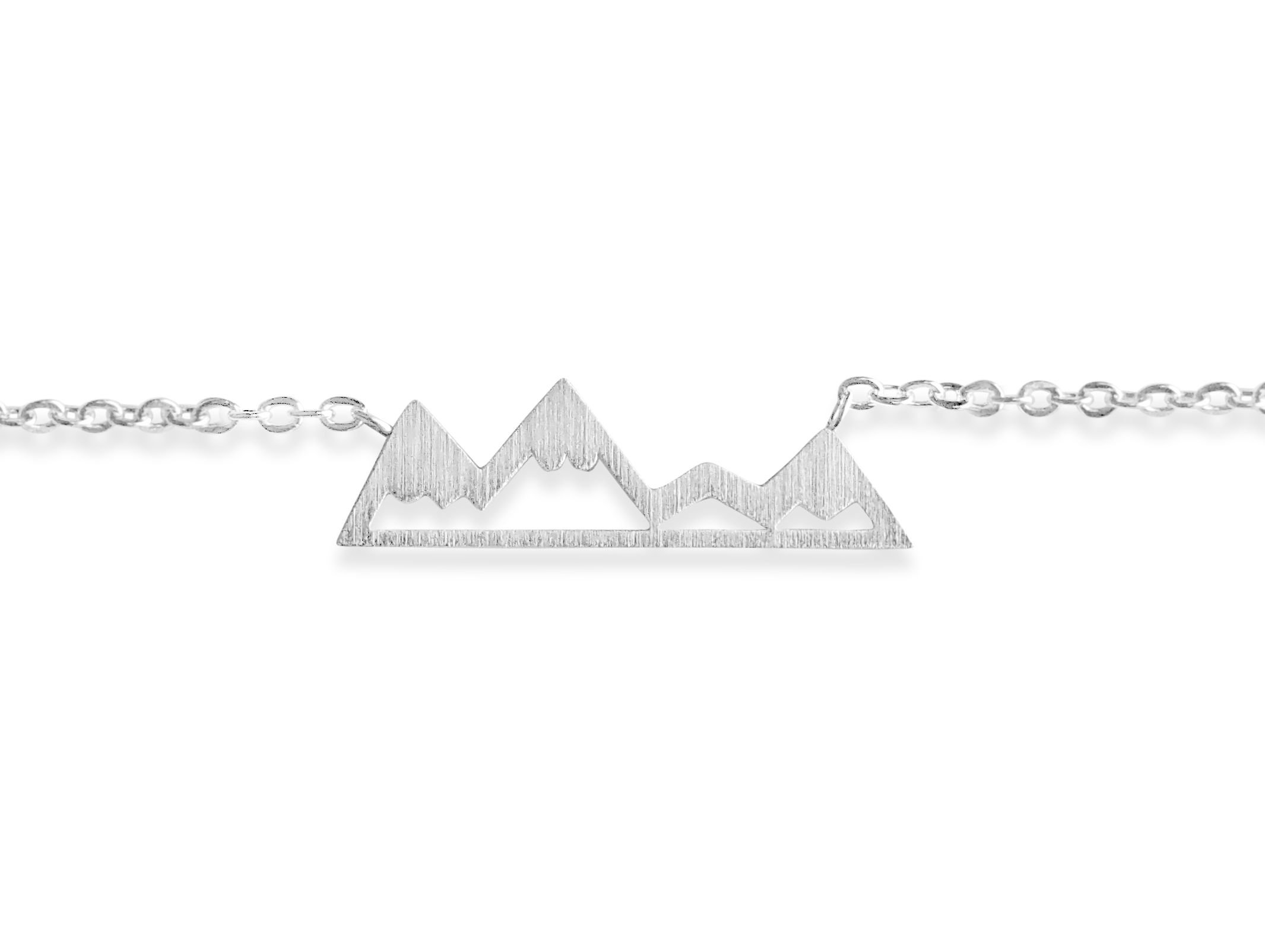 Rosa Vila Mountain Bracelet for Outdoor Lovers, Hikers, Skiers, Snowboarders, Hiking Enthusiasts, Snow Mountain Lovers (Silver Tone)