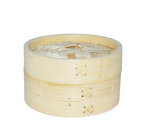 Em Home Dampfgarer Aus Bambus Fur Dampfgarer Eierkocher 1 Ebene Mit