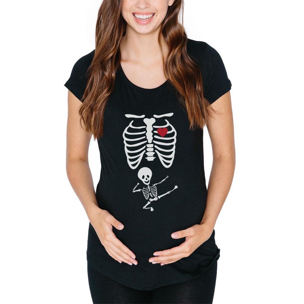 Old Glory Kung Fu Skeleton Baby Maternity T-Shirt - Medium