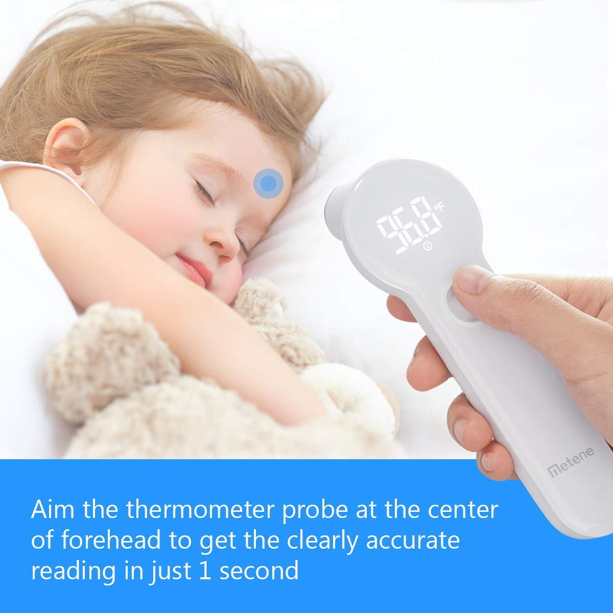 Baby Thermometer For Fever New Professional Digital Medical Forehead and Ear Thermometer,Upgraded thermoelectric Pile Sensor+3 Built-in Sensors for Best Accuracy,Thermometers for Baby Kids and Adults