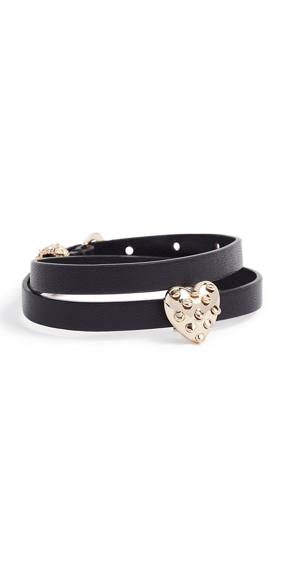 Alexis Bittar Heart Slider Leather Wrap Bracelet