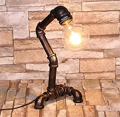 Lámparas de escritorio Tubos de agua Lámpara de mesa Industrial ...