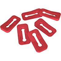 Baby Safety Oven Knob Locks - Childproof and Pet Kitchen Gas Stove Safety Guard (6PACK) (Red)