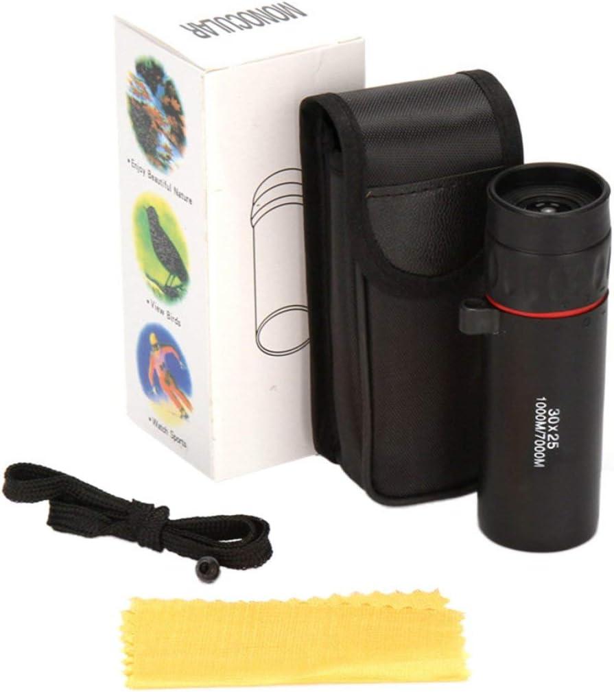 Garciakia Mini Single Telescope Pocket Monocular Telescope Birdwatching Eyepiece Mini Portable Handheld 30x25 High Definition Scope Color:black