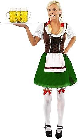 I LOVE FANCY DRESS LTD Disfraz DE Mujer BAVARA Marron Y Verde para ...