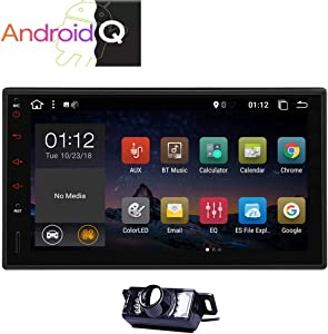 Android 10 Double 2 Din Car Stereo GPS Navigation 7inch Capacitive Muti-touchscreen Car Radio In Dash Head Unit Audio Video System Support Remote FM AM RDS Phone Mirror Wifi USB SD With Back up Camera