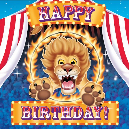 """Circus Party """"Happy Birthday"""" Lunch Napkins (16ct)"""