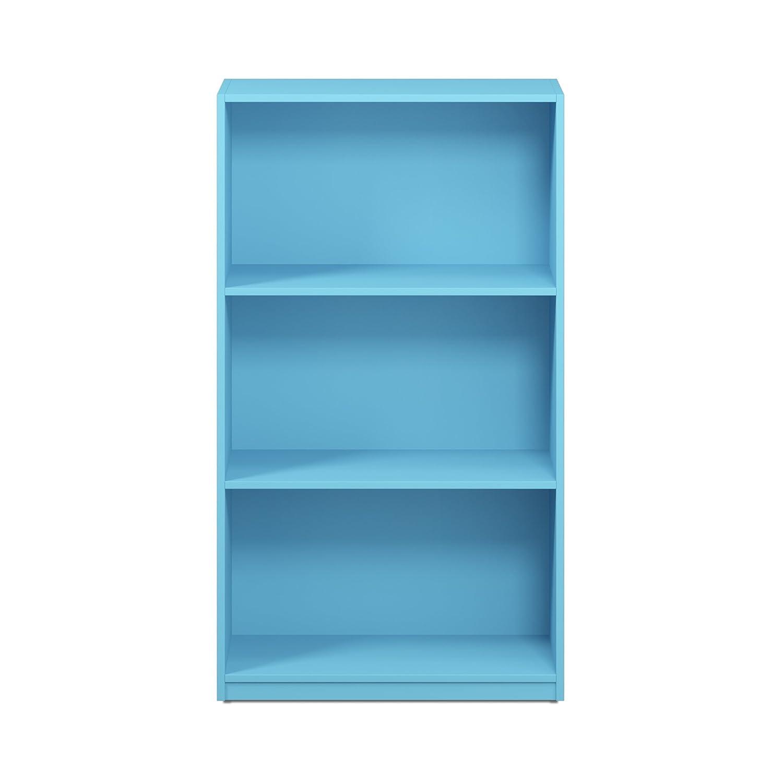 Furinno 99736CWN Basic 3-Tier Bookcase Storage Shelves, Columbia Walnut