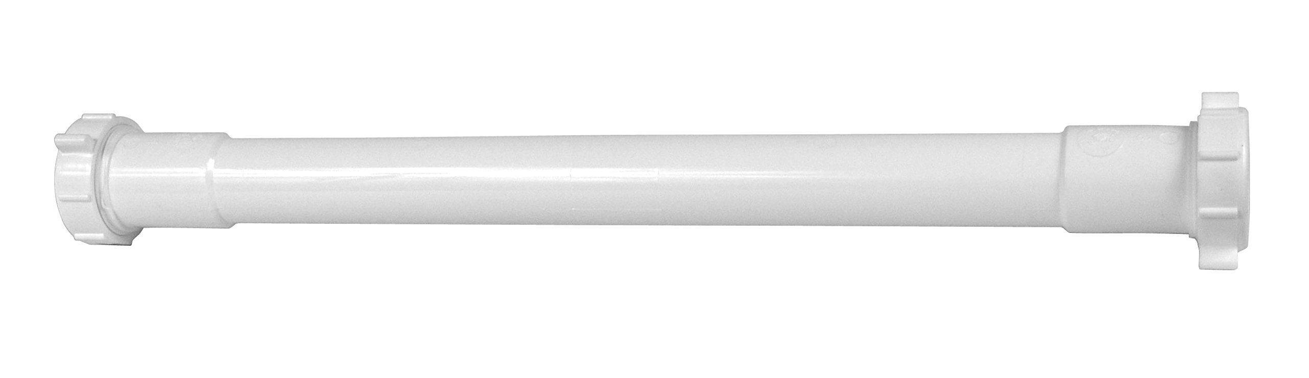 Dearborn P9791E 1-1/4'' x 16'' Plastic Double Connect Slip Joint Extension Tube, options include one or double end connection.