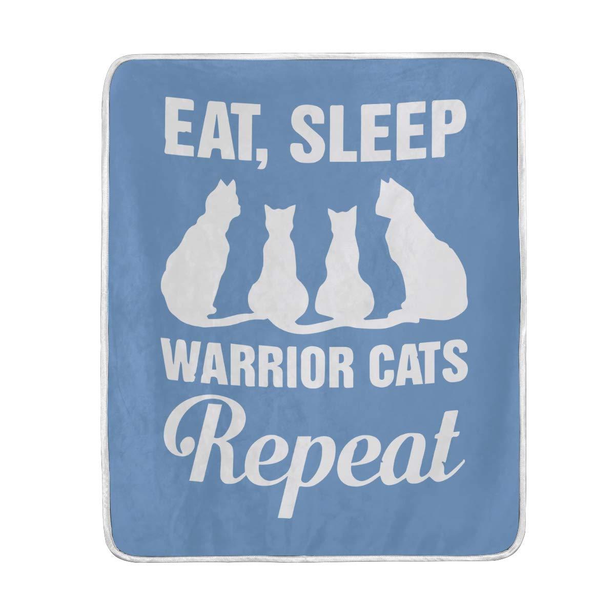 Amazon com: VIMMUCIR Home Decor Eat Sleep Warrior Cats