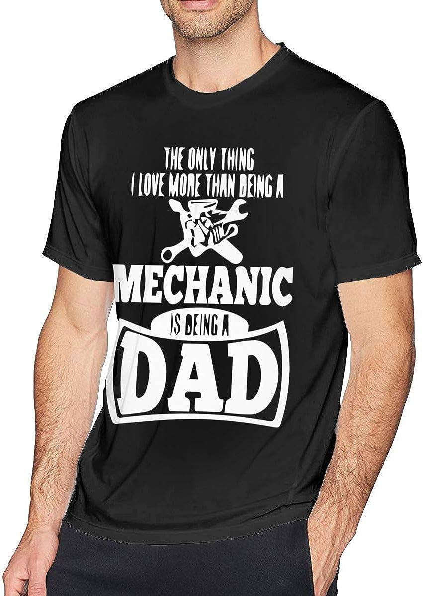 La única Cosa Que ama más Que ser mecánico es una Camisa de Manga Corta con Cuello Redondo para Hombres Workout de papá 6XL: Amazon.es: Ropa y accesorios