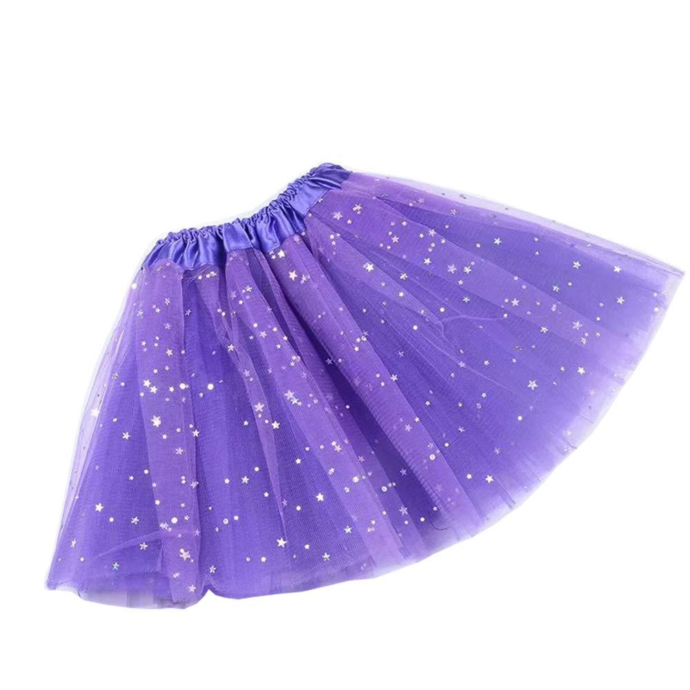 ZOONAI Baby Kids Girls Princess Dress Tulle Tutu Skirt Children Dance Costumes