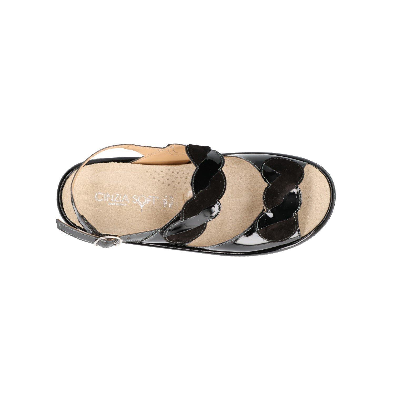 Cinzia Soft Sandali Zeppa Nero Scarpe Donna Plantare Estraibile IO631P-VC   Amazon.it  Scarpe e borse dde19e01c54