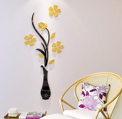 3d Flower Wall Decal Mural Sticker Diy Art Removable Acrylic Home