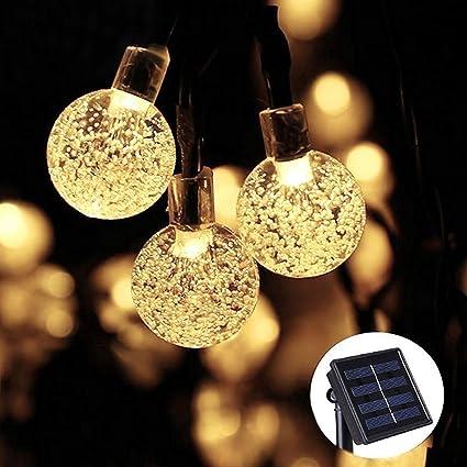 Amazon.com: ifolife cadena de luces para exteriores funciona ...