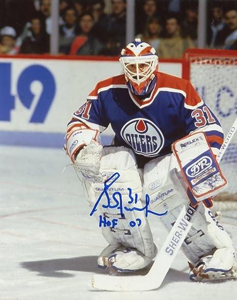 Grant Fuhr Hof 07 Edmonton Oilers Goalie Signed Autographed