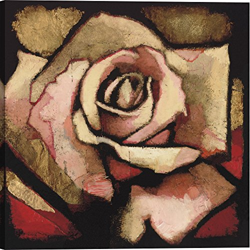 Gallery Direct AA102A-40x40-CG-F0000-ML000 Rose Study I by Arthur Albin Artwork on Canvas , 40