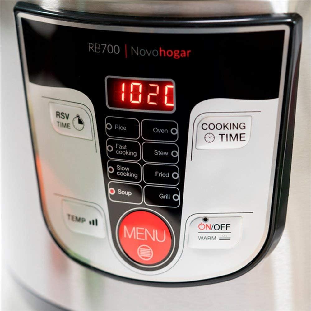 Novohogar Robot de Cocina Multifunción, Programable 24H. Cubeta ...
