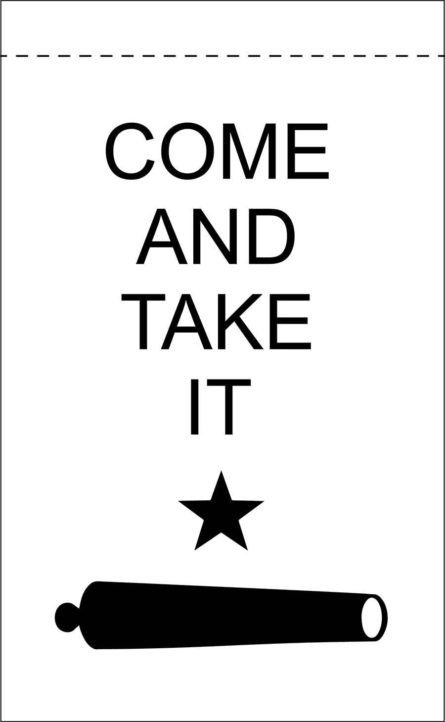 Come and Take It 18inx12in Nylon Garden Flag 18x12 Made in USA 18