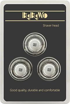 BigbigWo 3 piezas Cabezal Afeitadora Doble Cutters Cuchillas para Philips Afeitadora Eléctrica AT890 Cabezales de Afeitado Shaver Heads + Máquina de afeitar cepillo ...