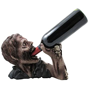 1 x decorative graveyard zombie wine bottle holder statue for scary halloween party decorations medieval - Zombie Decorations