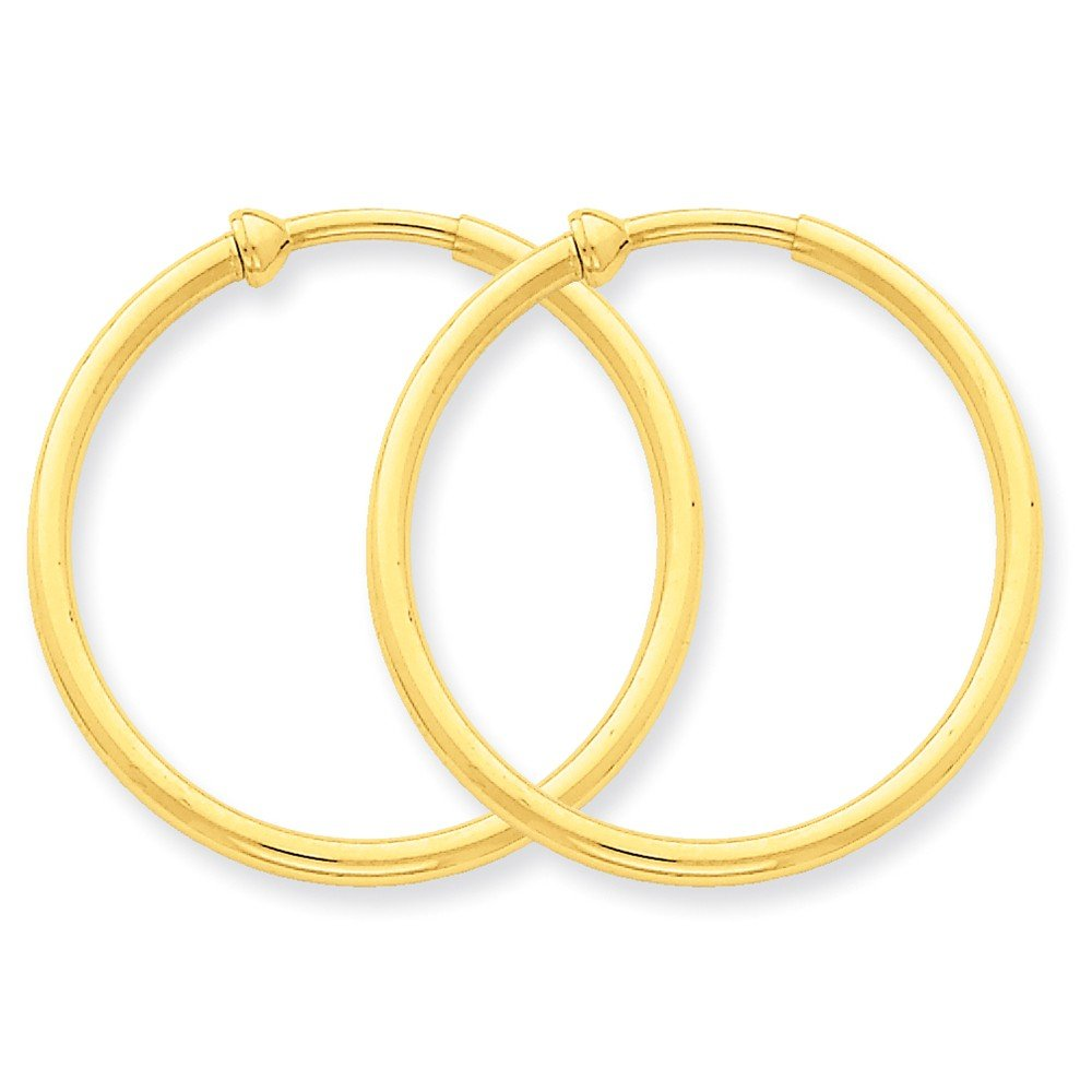 14k Yellow Gold Non Pierced Clip On Hoop Earrings Ear Hoops Set Fine Jewelry Gifts For Women For Her