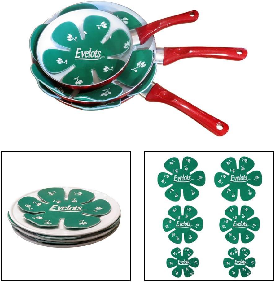Evelots Felt Dish & Pan Scratch Protectors - Ceramic - Glass - Cookware - Divider - Set of 6