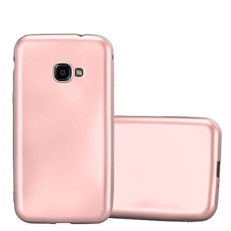 8306eeed05b829 Cadorabo Coque pour Samsung Galaxy Xcover 4 en Metallic Or Rose – Housse  Protection Souple en