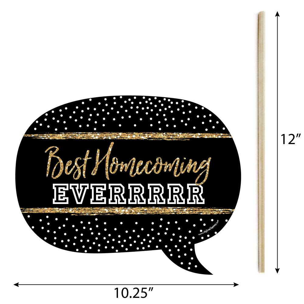 Funny HOCO Dance - Homecoming Photo Booth Props Kit - 10 Piece by Big Dot of Happiness (Image #3)