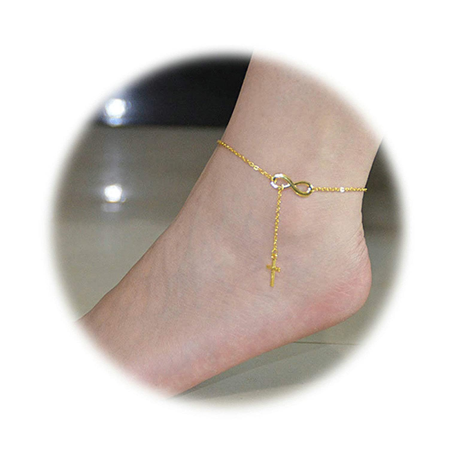 """New Lucite Chain Anklet Fits 9-10/"""" Women Oversized Ankle Bracelet 3 Colors"""