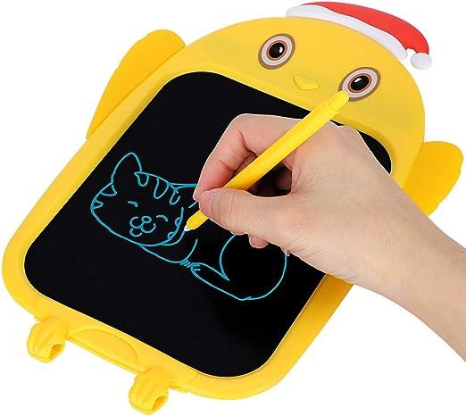 LCDライティングタブレット、落書きボードギフトおもちゃ漫画フクロウ形状子供小さな手書き描画落書きツール女の子誕生日ギフトとおもちゃ