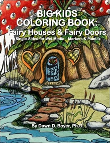 Big Kids Coloring Book: Fairy Houses and Fairy Doors: Single ...
