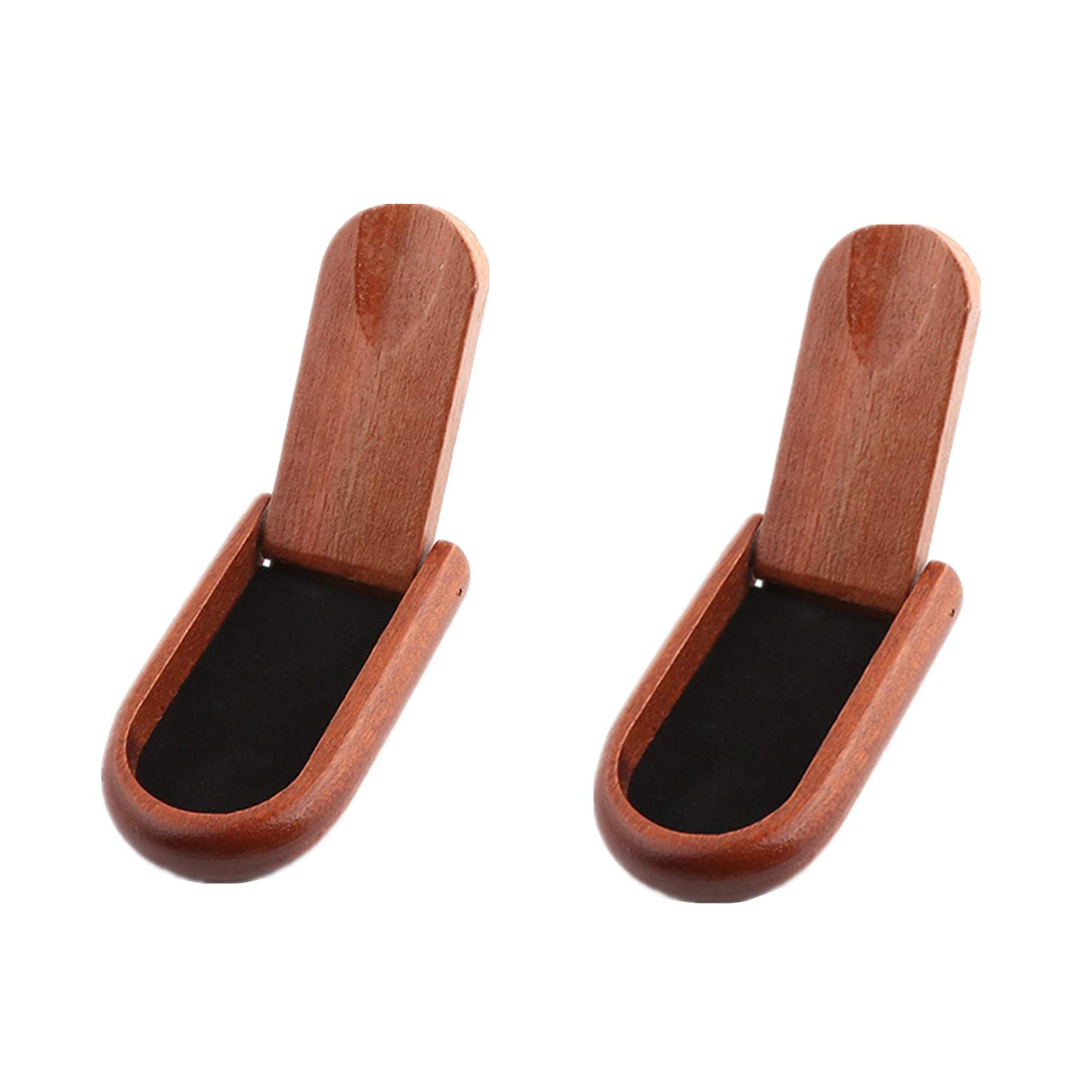 MIAO JIN 2 Pack Foldable Wood Smoking Pipe Holder Tobacco Pipe Stand Cigar Holder for Single Pipe by MIAO JIN