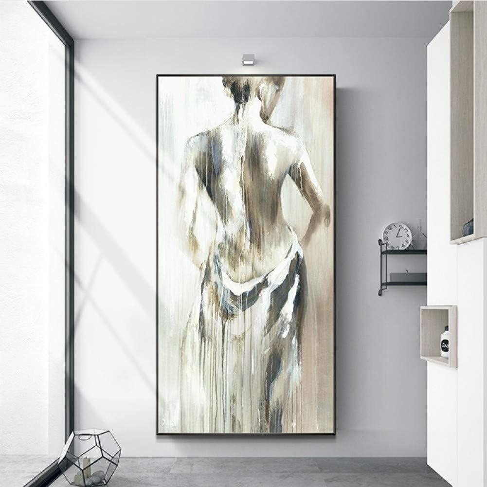 Pintura al óleo pintada a mano moderna abstracta cuerpo lienzo pintura pared arte cuadros para sala de estar decoración del hogar regalo sin marco