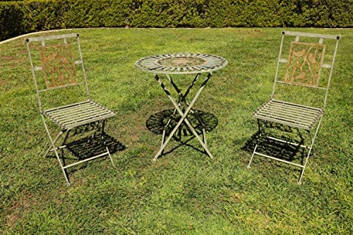 Alpine Metal 3-Piece Birds on Branches Bistro Set, 29 Inch Tall