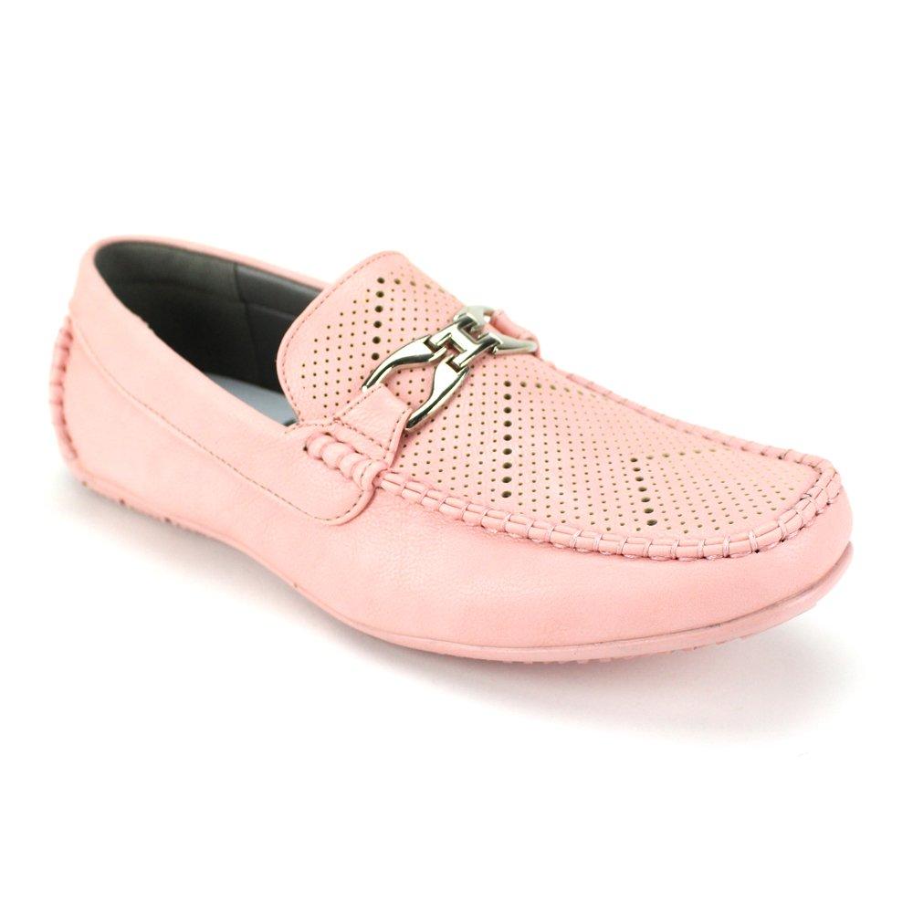 Ac Casuals 6747 Men's Casual Loafer Slip-on Driving Moccasin Perfs Perforations Summer Comfort Antonio Cerrelli (11, Light Pink)